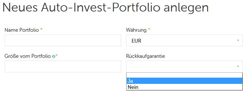 Der Mintos Autoinvestor Schritt 1