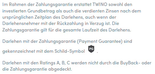 Twino Zahlungsgarantie FAQ