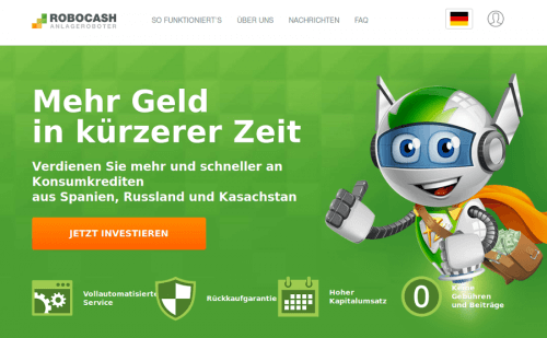 Robocash Video von der P2P Kredite Plattform