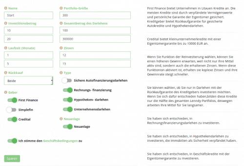 Der Autoinvestor der P2P Plattform Lenndy