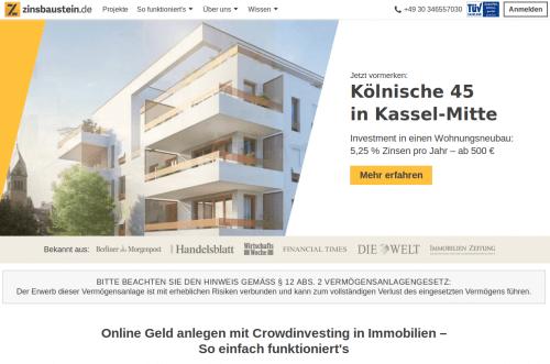 Immobilien Crowdinvesting Zinsbaustein