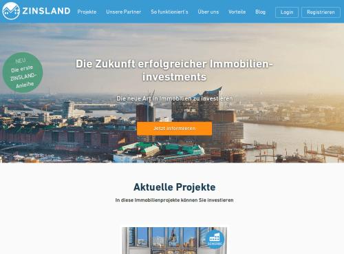 Immobilien Crowdinvesting mit ZInsland