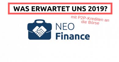 NEO FInance in 2019 an die Börse und Rückblick auf das Jahr 2018