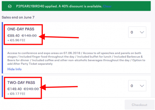 P2PConference Ticket Discount cheaper
